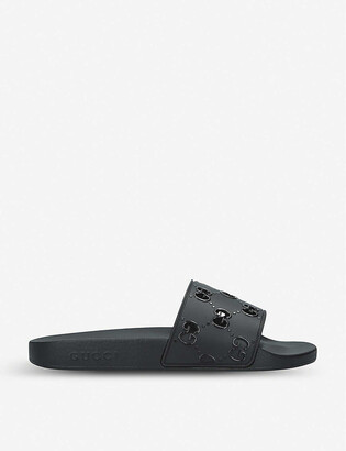 Gucci Pursuit GG cutout rubber sliders