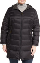 MICHAEL Michael Kors Packable Hooded Puffer Long Jacket, Plus Size