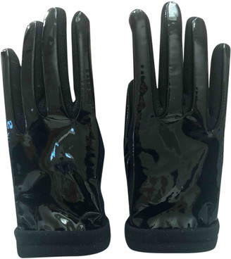 Miu Miu Black Patent leather Gloves