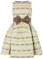 La Stupenderia Circle Pattern Belted Dress