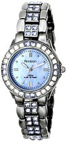 Swarovski Armitron Women's 75/3689BMDG Blue Crystal Accented Gunmetal Bracelet Watch