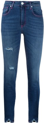 Frankie Morello distressed mid-rise skinny jeans