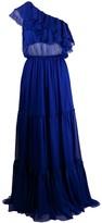 FEDERICA TOSI ruffle detail silk dress
