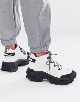 CAT Footwear CAT Resistor hi top hiker hybrid trainers in white