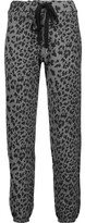 Current/Elliott The Varsity Leopard-Print Cotton Track Pants