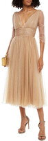 Thumbnail for your product : Maria Lucia Hohan Leila Embellished Pleated Tulle Midi Dress