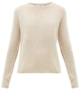The Row Imani Striped Cashmere Sweater - Womens - Beige