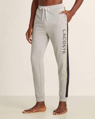 Lacoste Color Block Vertical Logo Pajama Joggers