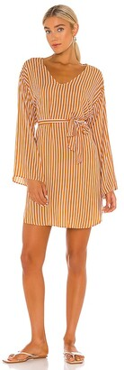 Seafolly Stripe Long Sleeve Cover Up Dress