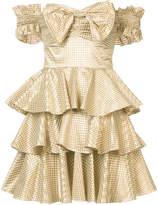 Caroline Constas metallic ruffle dress