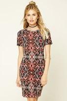 Forever 21 FOREVER 21+ Contemporary Tribal Print Dress