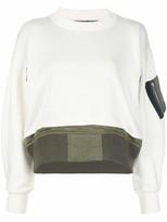 Sacai Mock Neck Contrast Sweater