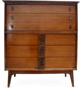 One Kings Lane Vintage High Chest of Drawers by Bassett