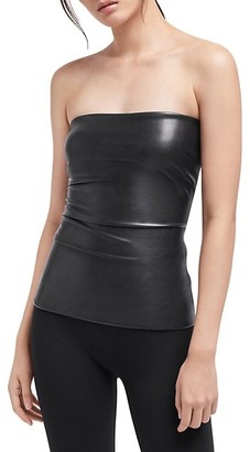 Wolford Strapless Faux Leather Top