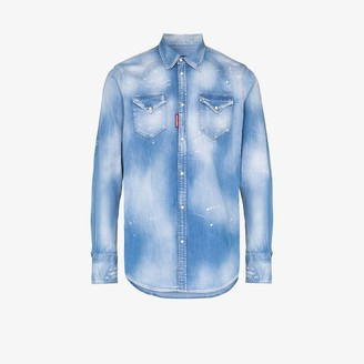 DSQUARED2 Distressed western denim shirt