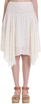 See by Chloe Skirt In White Cotton