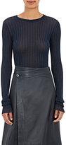 Helmut Lang Women's Fine-Gauge Rib-Knit Sweater-BLUE