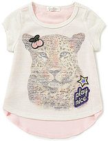 Jessica Simpson Little Girls 2T-6X Tiger-Graphic Tee