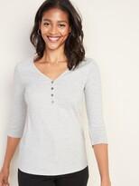 Old Navy Slim-Fit Rib-Knit Henley for Women
