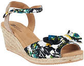 White Mountain As Is Espardrille Wedges w/ Ankle Strap - Suntan