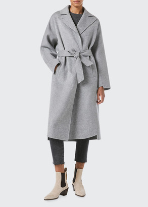 Frame Wool-Cashmere Wrap Coat