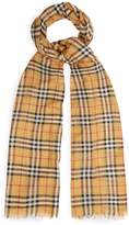 Burberry Vintage-checked wool-blend scarf