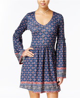 American Rag Printed Bell-Sleeve Fit & Flare Dress, Only at Macy's