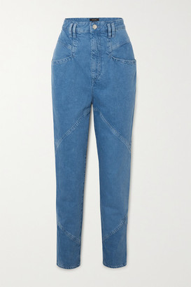 Isabel Marant Eloisa Paneled Boyfriend Jeans - Blue