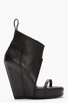 Rick Owens Black cutout Wedge Sandal Boots