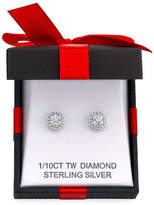 FINE JEWELRY Limited Time Special - 1/10 CT. T.W. Double Halo Diamond Stud Earrings in Sterling Silver