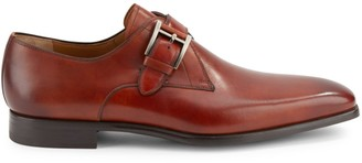 Magnanni Leather Monk-Strap Shoes