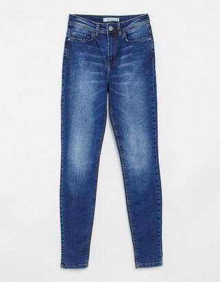 JDY Jona high rise skinny jeans in medium blue wash