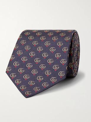 Gucci 7.5cm Logo-Jacquard Silk-Twill Tie