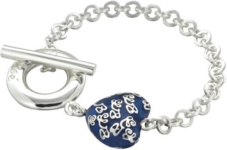 Louise Zoé Louise Zoe Bracelet with Heart Design Sterling Silver-Plated Brass - 4LZ0275DB 19 cm