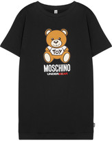 Moschino Printed Cotton-fleece Tunic - Black