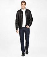 Brooks Brothers Leather Bomber