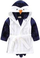 TOLLION Toddlers/kids Hooded Animal Fleece Bathrobe Children's Pajamas Sleepwear