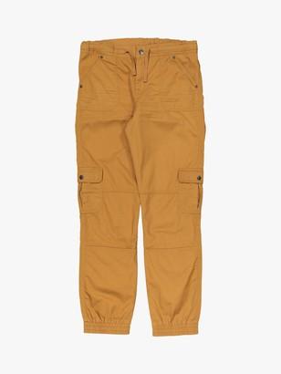 Polarn O. Pyret Children's Organic Cotton Cargo Trousers, Brown