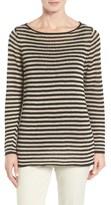 Eileen Fisher Women's Stripe Organic Linen Top