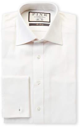 Thomas Pink Slim Fit Joseph Diamond Print Long Sleeve Dress Shirt