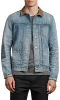 AllSaints Ibanex Slim Fit Distressed Denim Jacket
