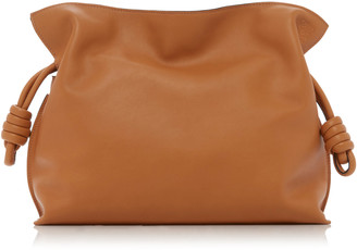 Loewe Flamenco Knot Drawstring Leather Clutch