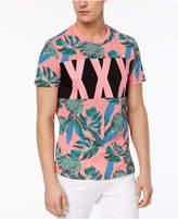 GUESS Men's Stream Pieced Palm-Print T-Shirt