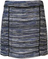 Jason Wu melange stripe mini skirt