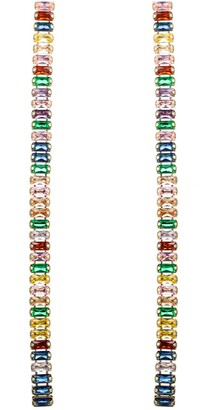 Eye Candy Los Angeles 18K Gold Plated Rainbow Cubic Zirconia Crystal Dangle Earrings