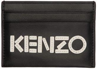 Kenzo Black and White Logo Card Holder