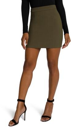 Good American Back Zip Miniskirt