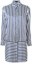 Burberry striped shirt dress - women - Silk/Cotton - 8
