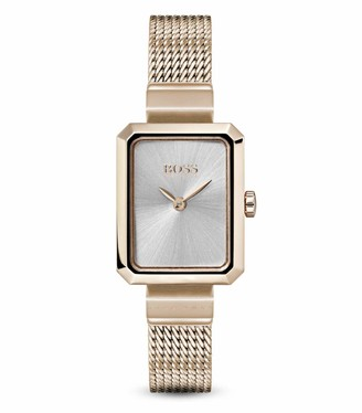 HUGO BOSS Womens Analogue Classic Quartz Watch with Rose Gold Strap 1502432