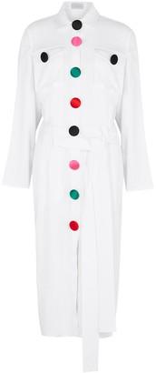 Christopher Kane White belted midi dress